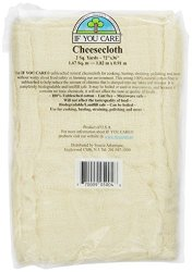 """If You Care"" cheesecloth made in usa"