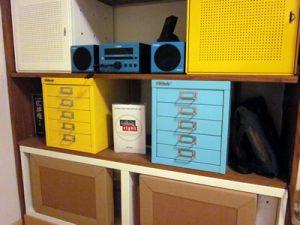 konmari-ed shelving, storage vision
