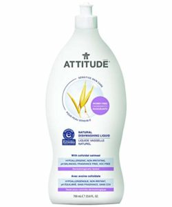 Attitude Natural Dishwashing Liquid, Fragrance Free
