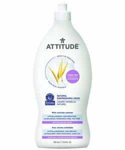 Attitude Natural Dishwashing Liquid, Fragrance Free