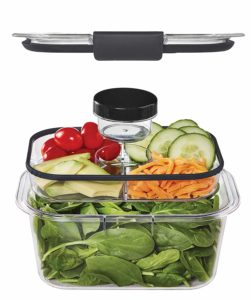 Rubbermaid Brilliance Salad and Snack Lunch Combo Kit