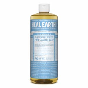 Dr. Bronner's Pure-Castile Baby Unscented Liquid Soap for Hand Washing